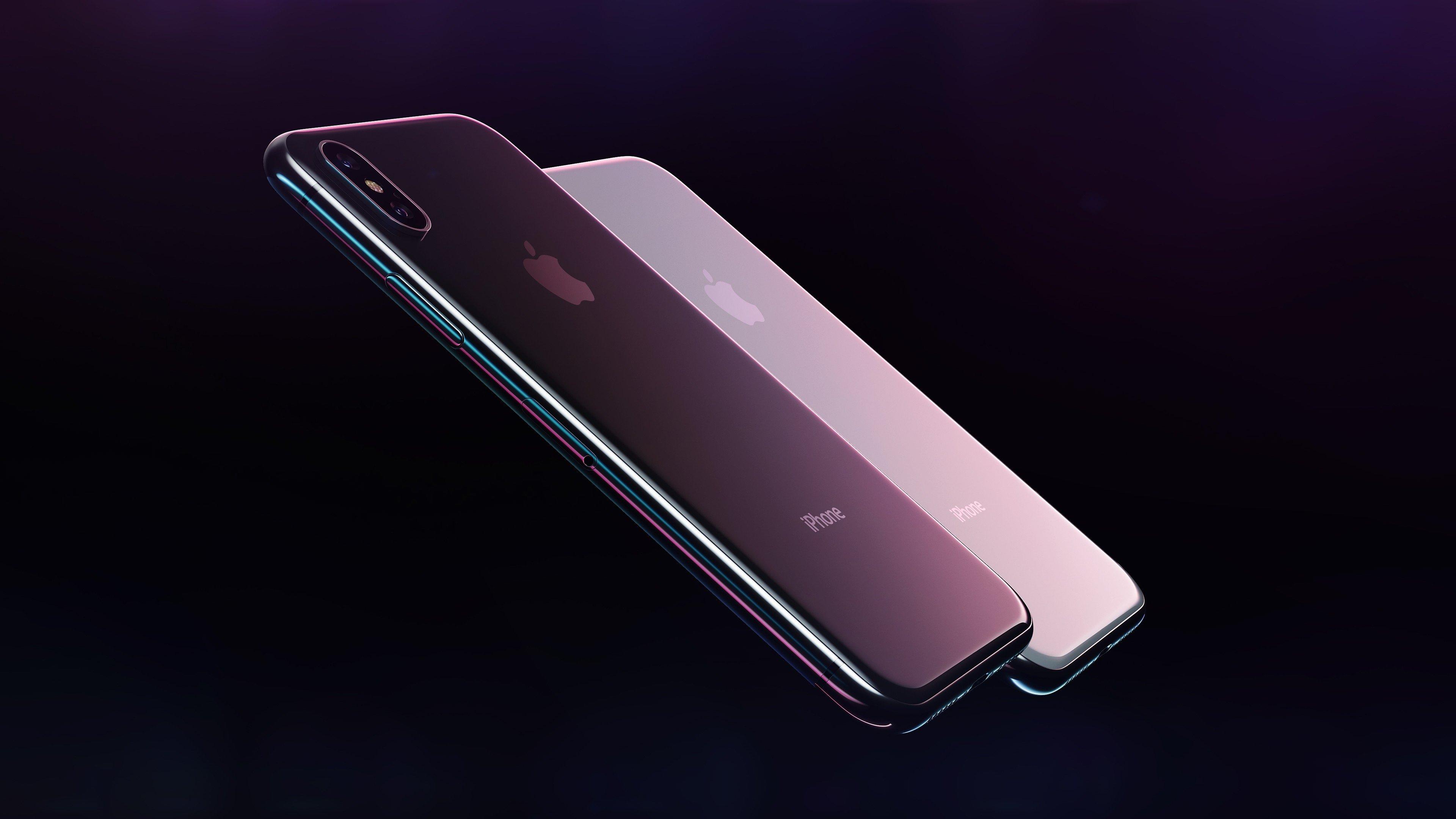 iPhone em fundo preto