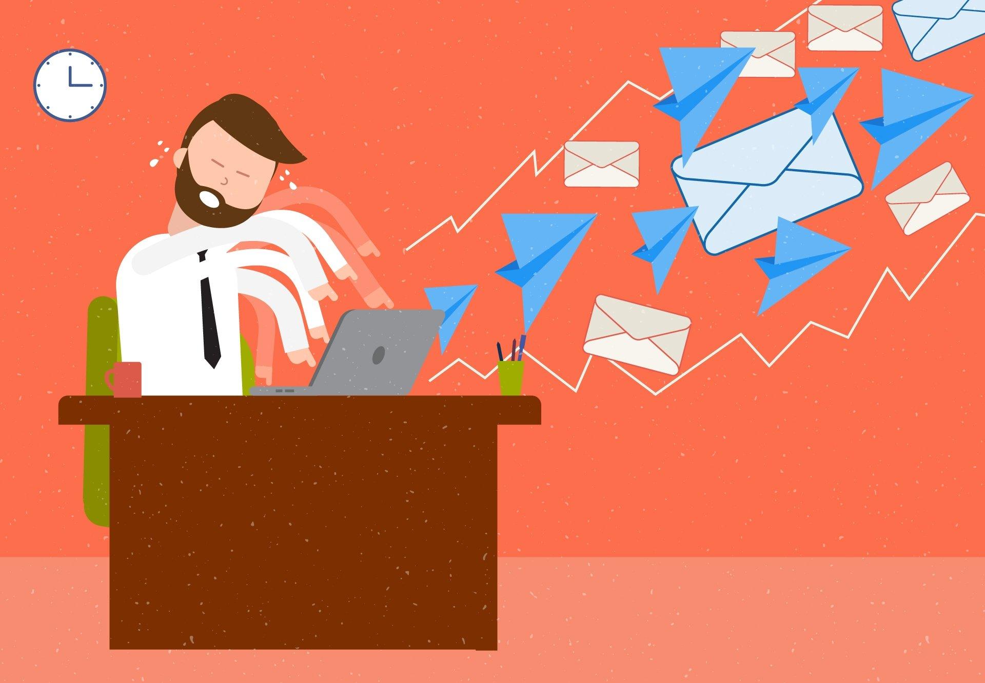 caixa de saída de emails