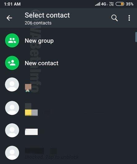 interface escura do whatsapp