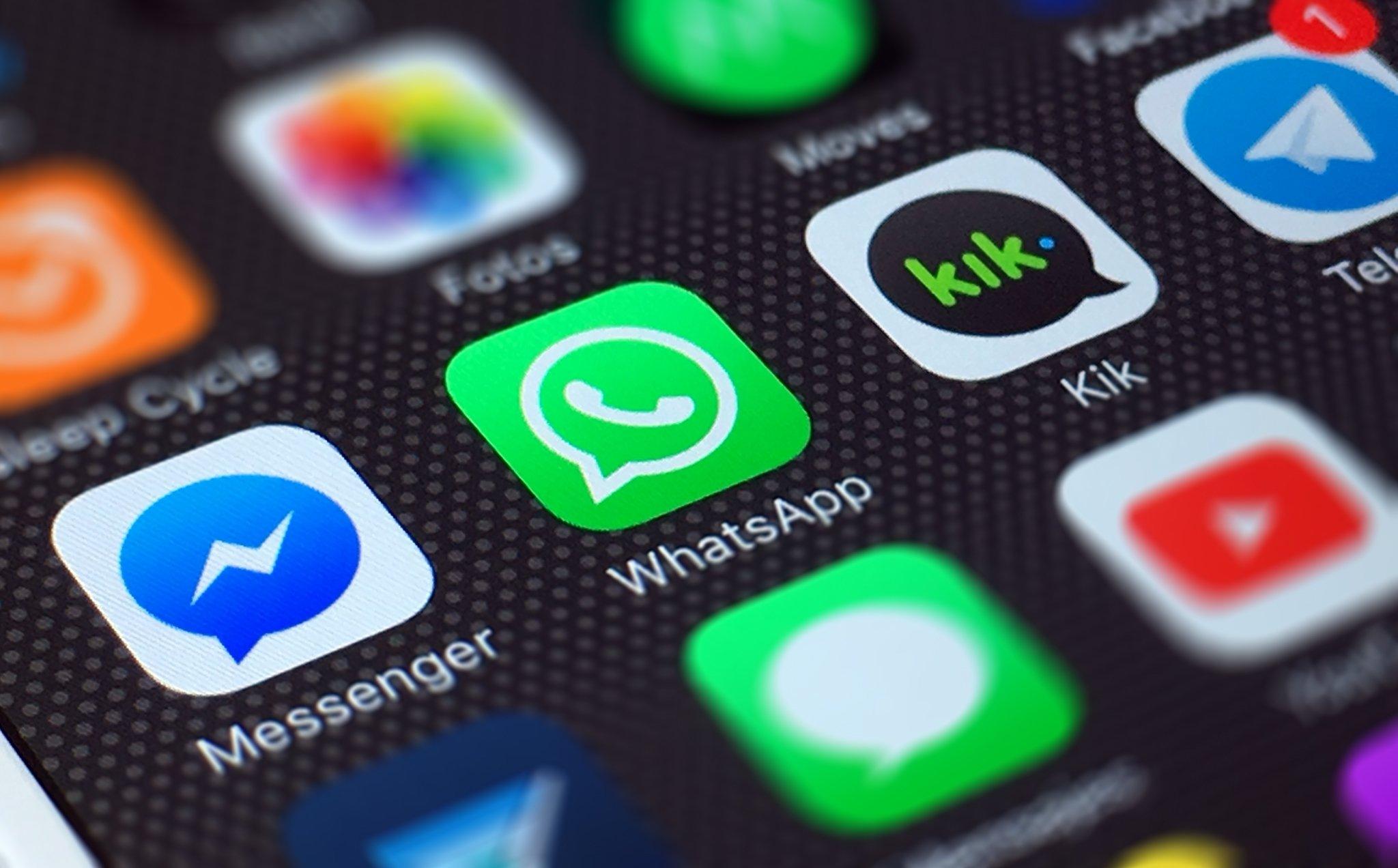 WhatsApp ícone no ecrã