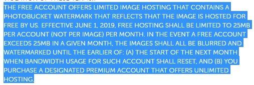 limite trafego mensal photobucket