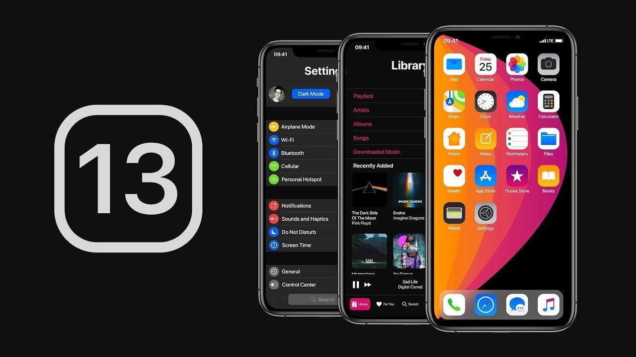 iOS sobre iphone conceito gráfico