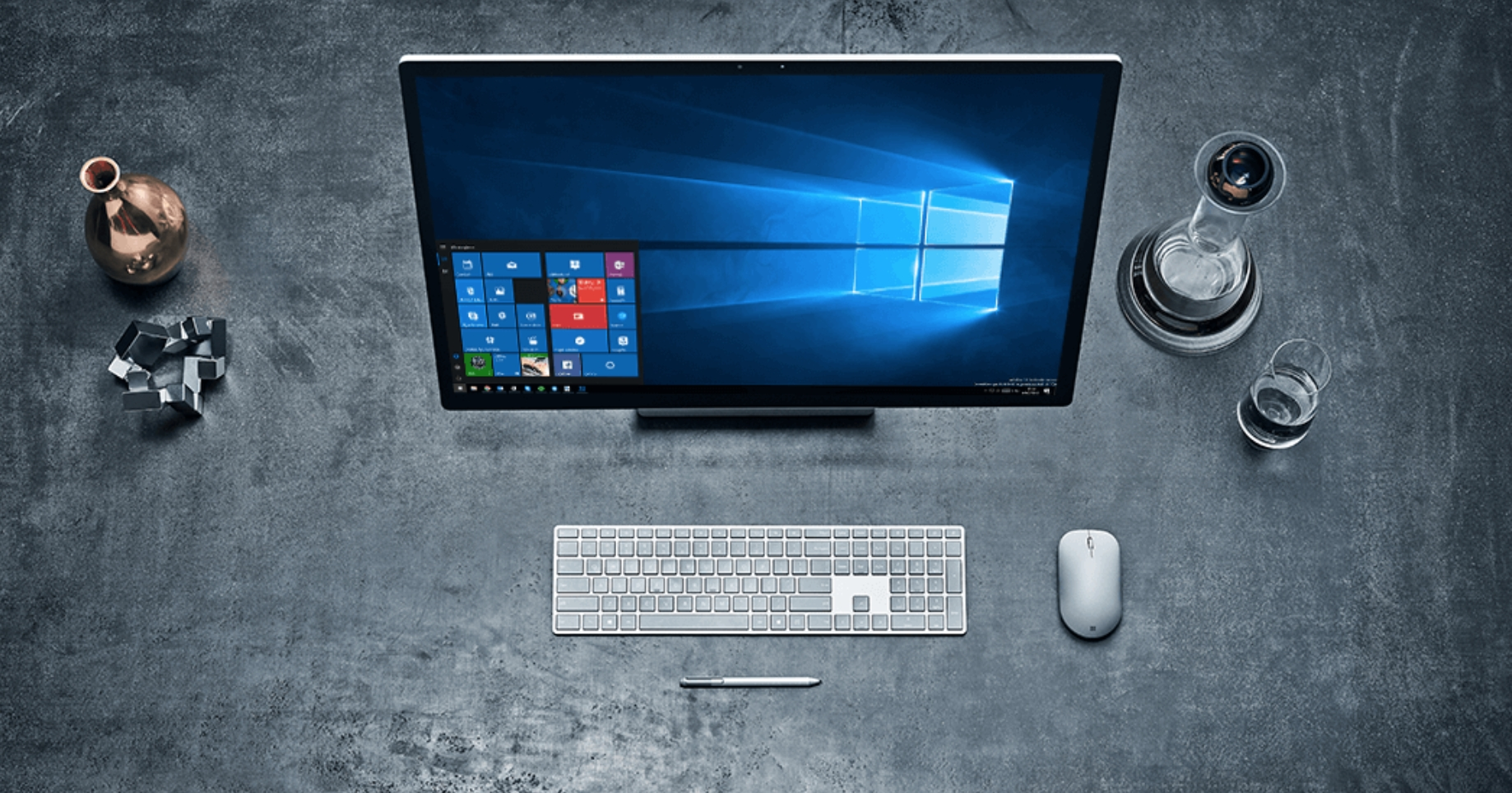 Windows 10 num computador de mesa