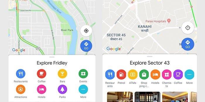imagem de novos Ícones no google maps