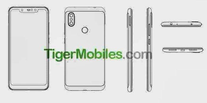 imagem da patente da Xiaomi