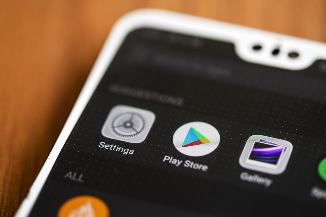 play store em smartphone