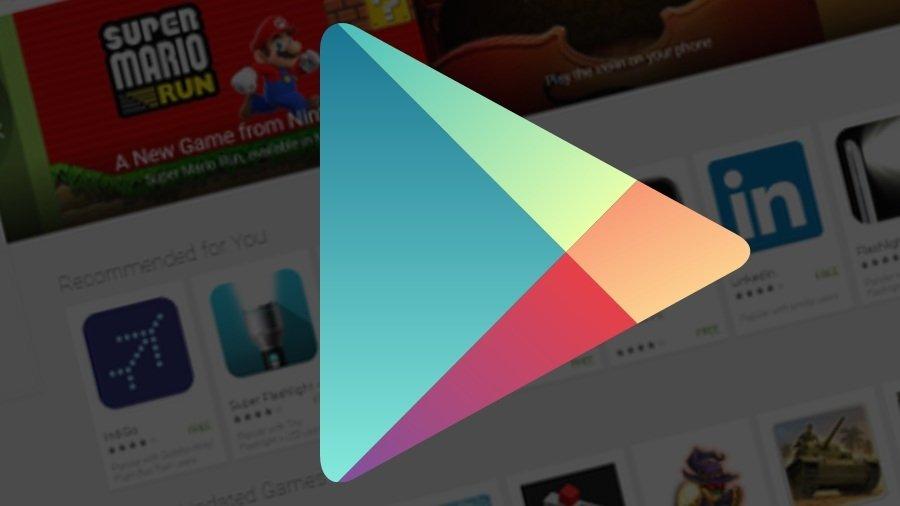 Play Store logo e fundo de aplicações
