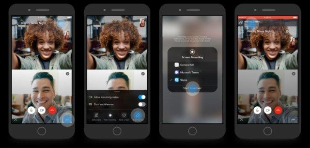 partilha de ecrã no skype