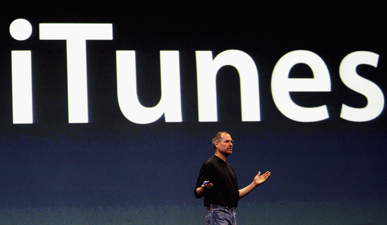 iTunes com Steve Jobs