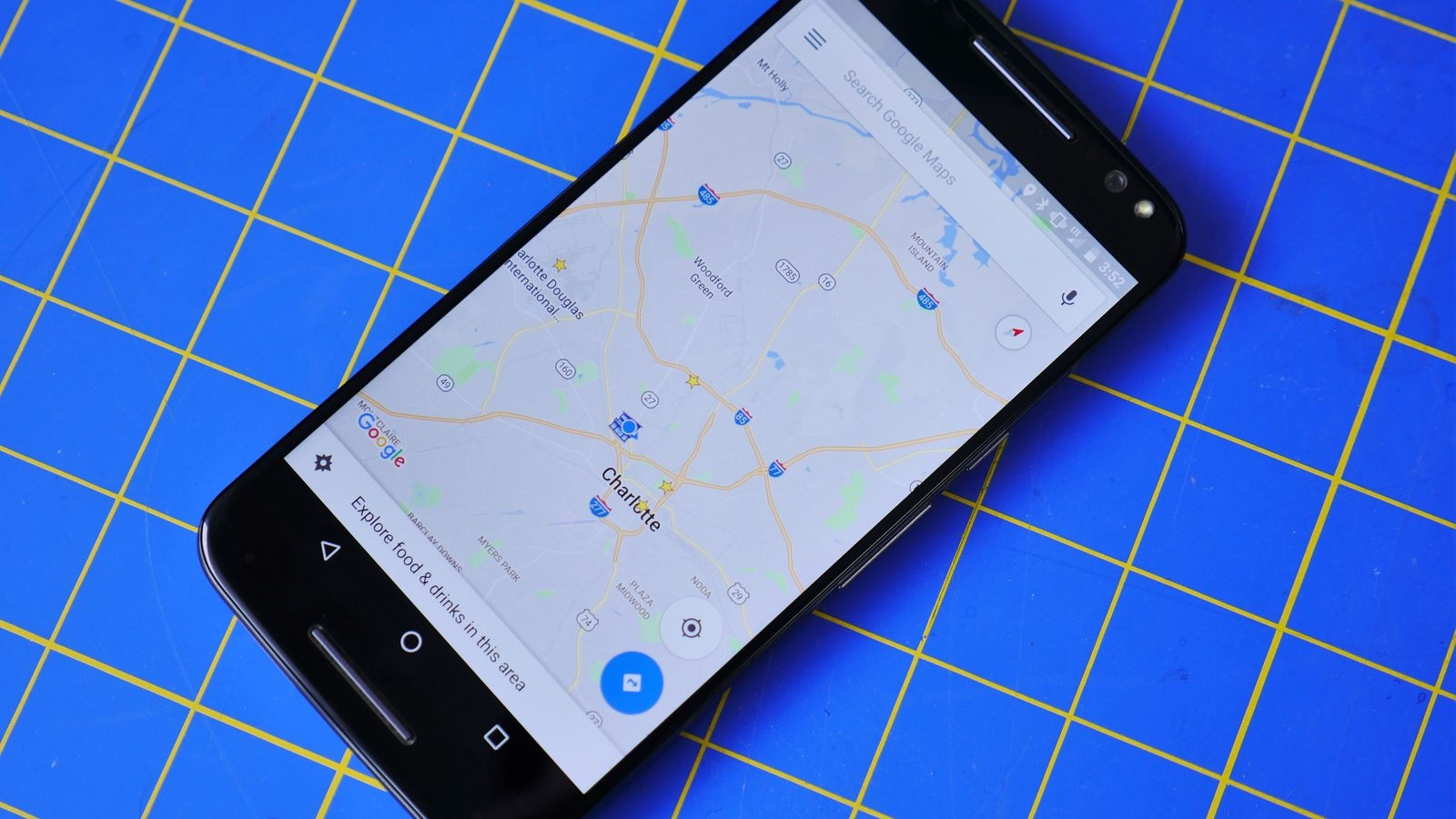 Google maps em smartphone android