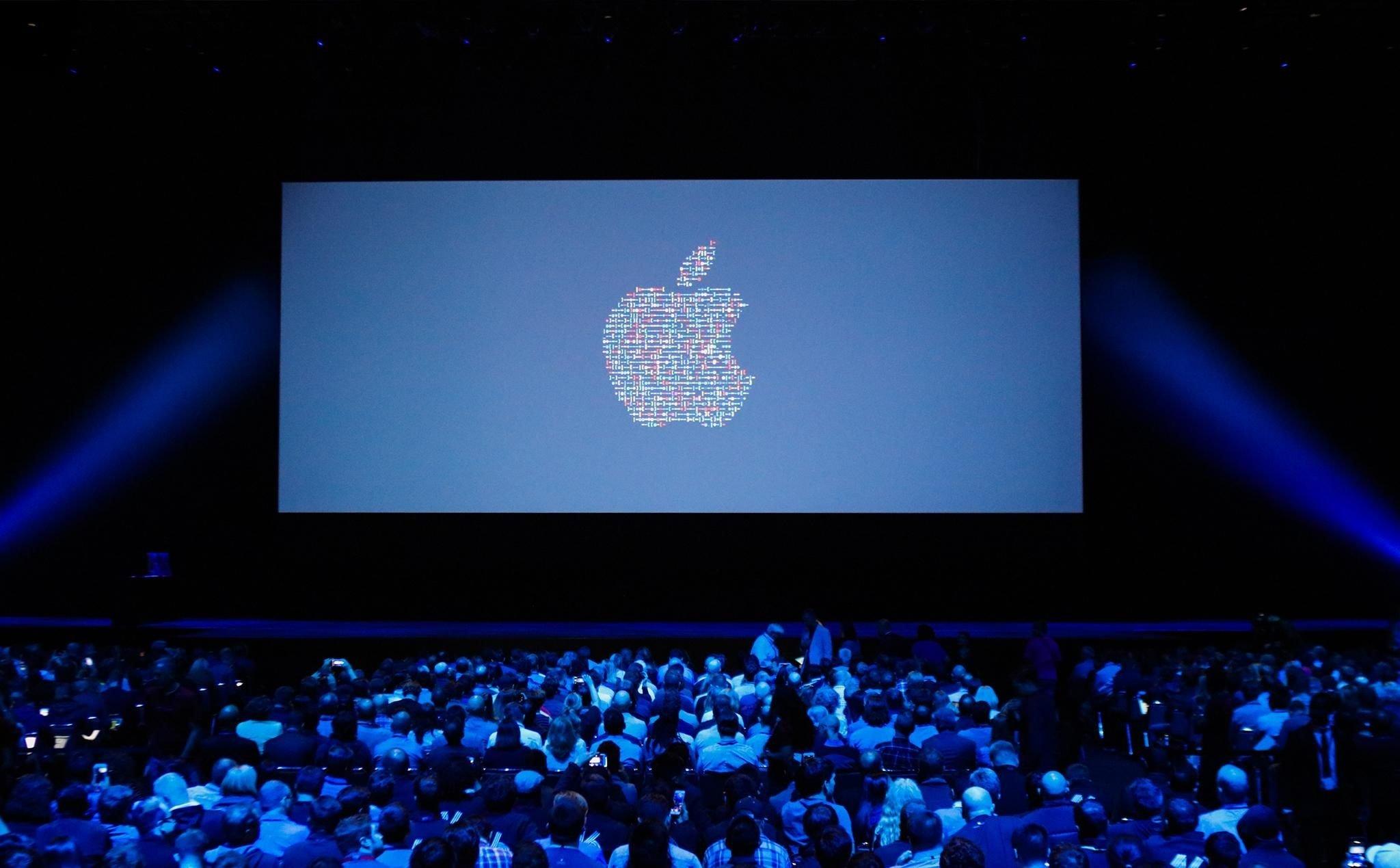 apple ecrã com logo da empresa