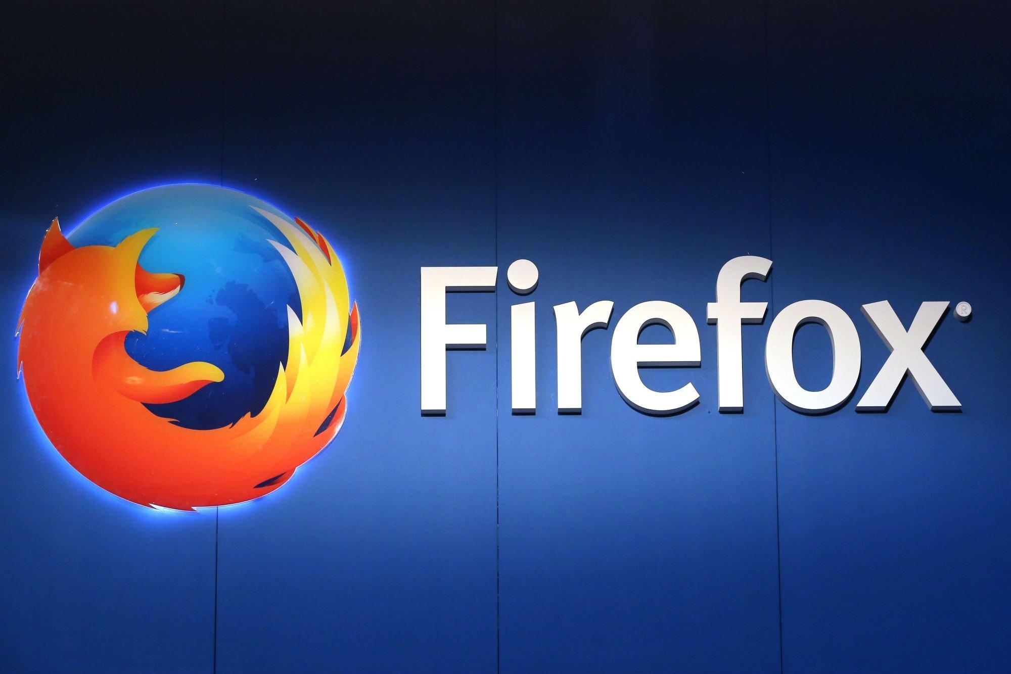 firefox logo em parede