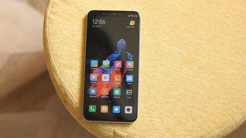 xiaomi smartphone sobre MIUI