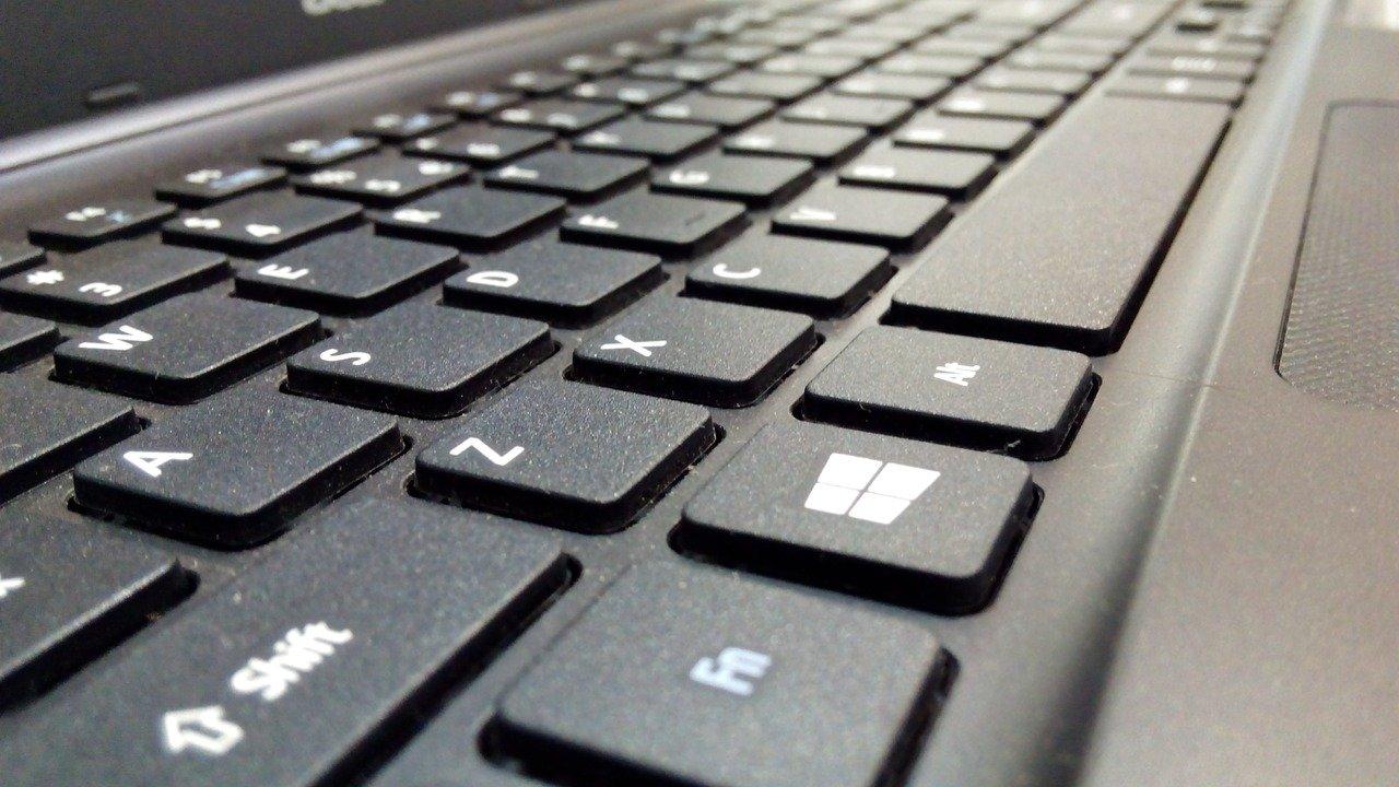 Teclado de um portátil