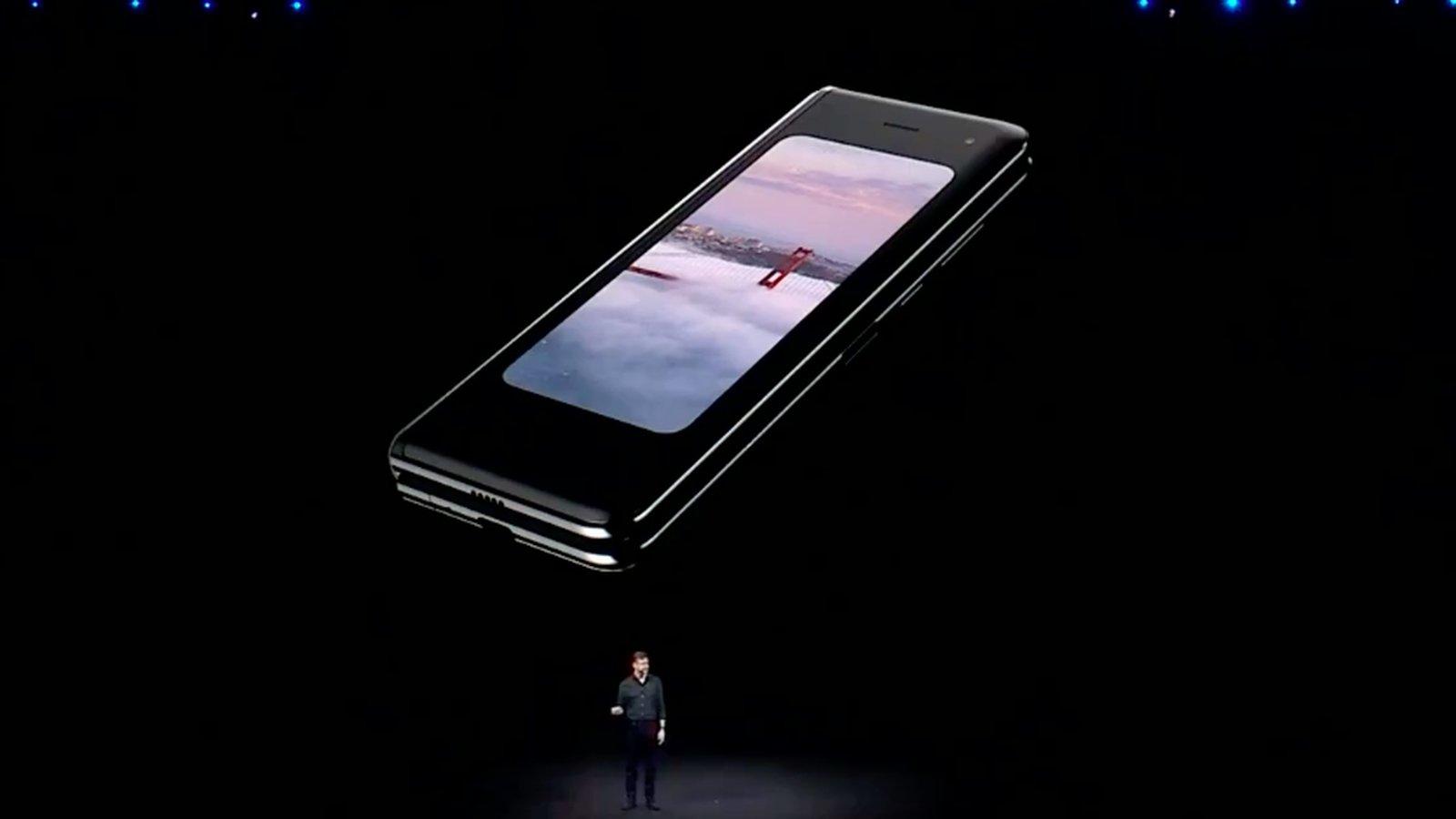 Samsung galaxy fold evento de revelação