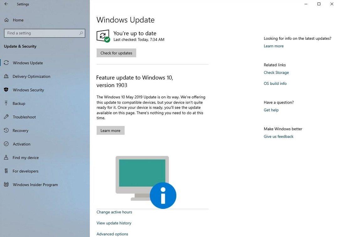 Windows 10 erro de atualização