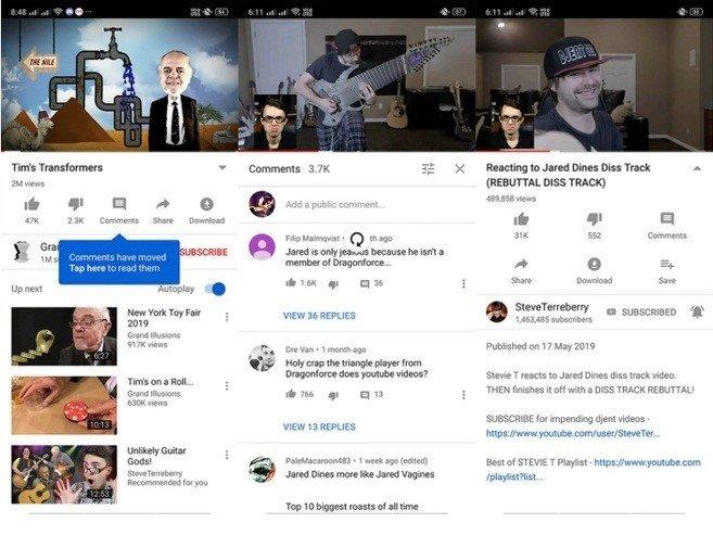 comentarios escondidos youtube