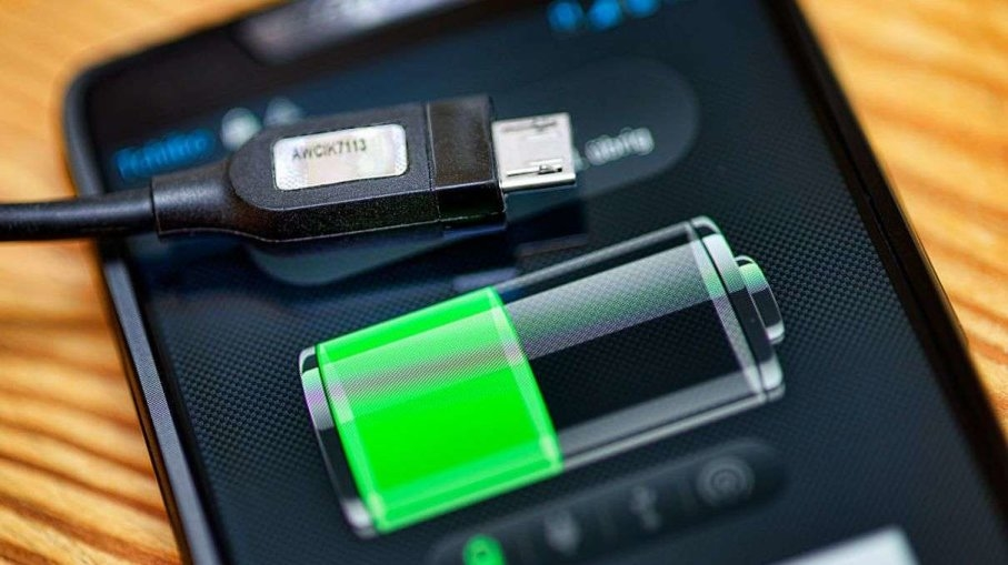 bateria em carregamento