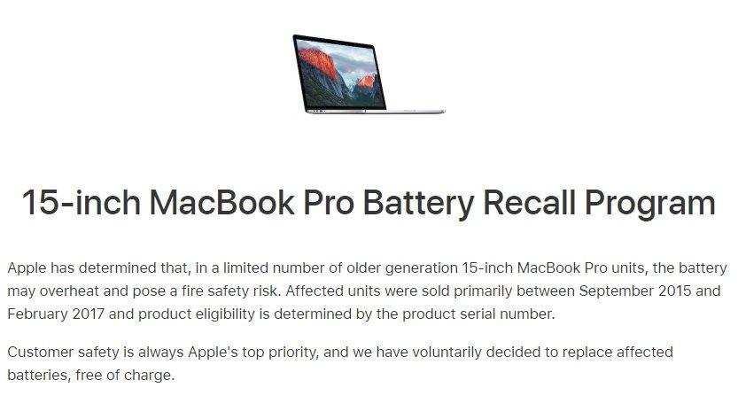 apple recolha de macbook pro danificados