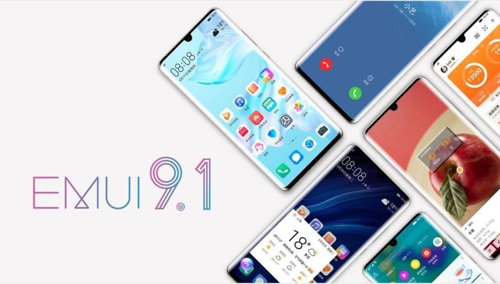EMUI 9.1 da Huawei