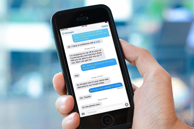 mensagem de smartphone iPhone