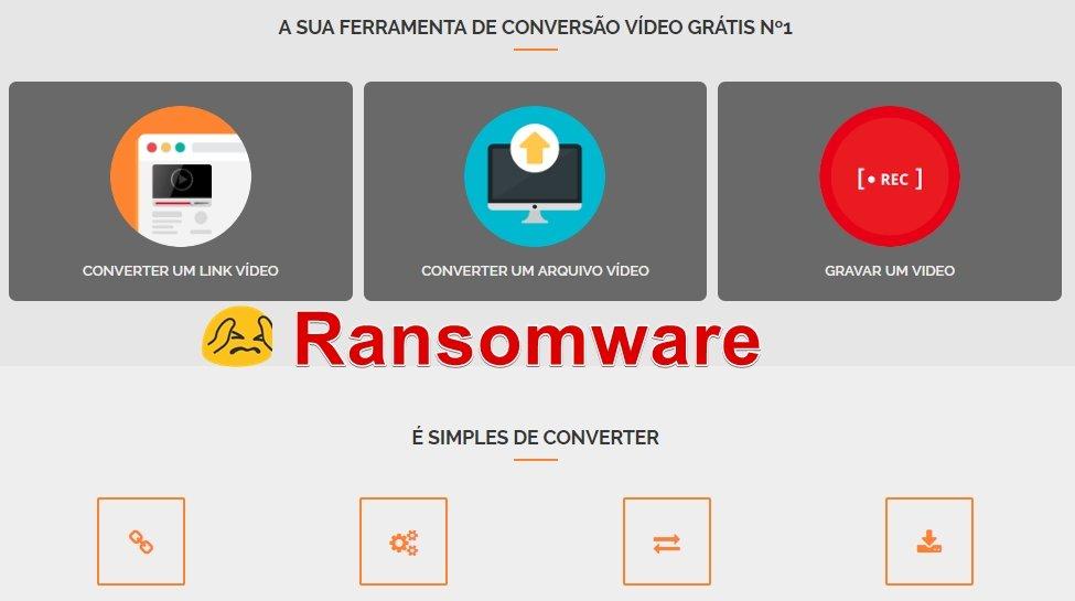 ransomware conversão de vídeos