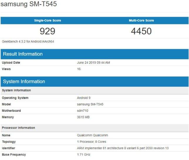 teste benchmark tablet da Samsung