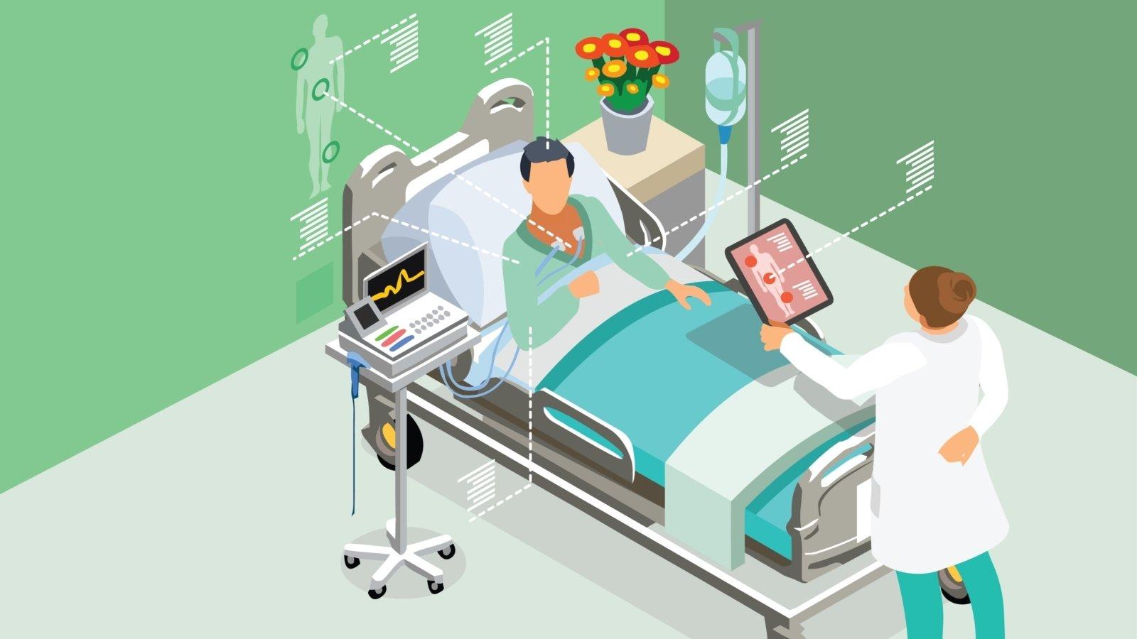google e imagem de um hospital