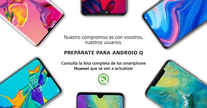 imagem twitter huawei espanha android q
