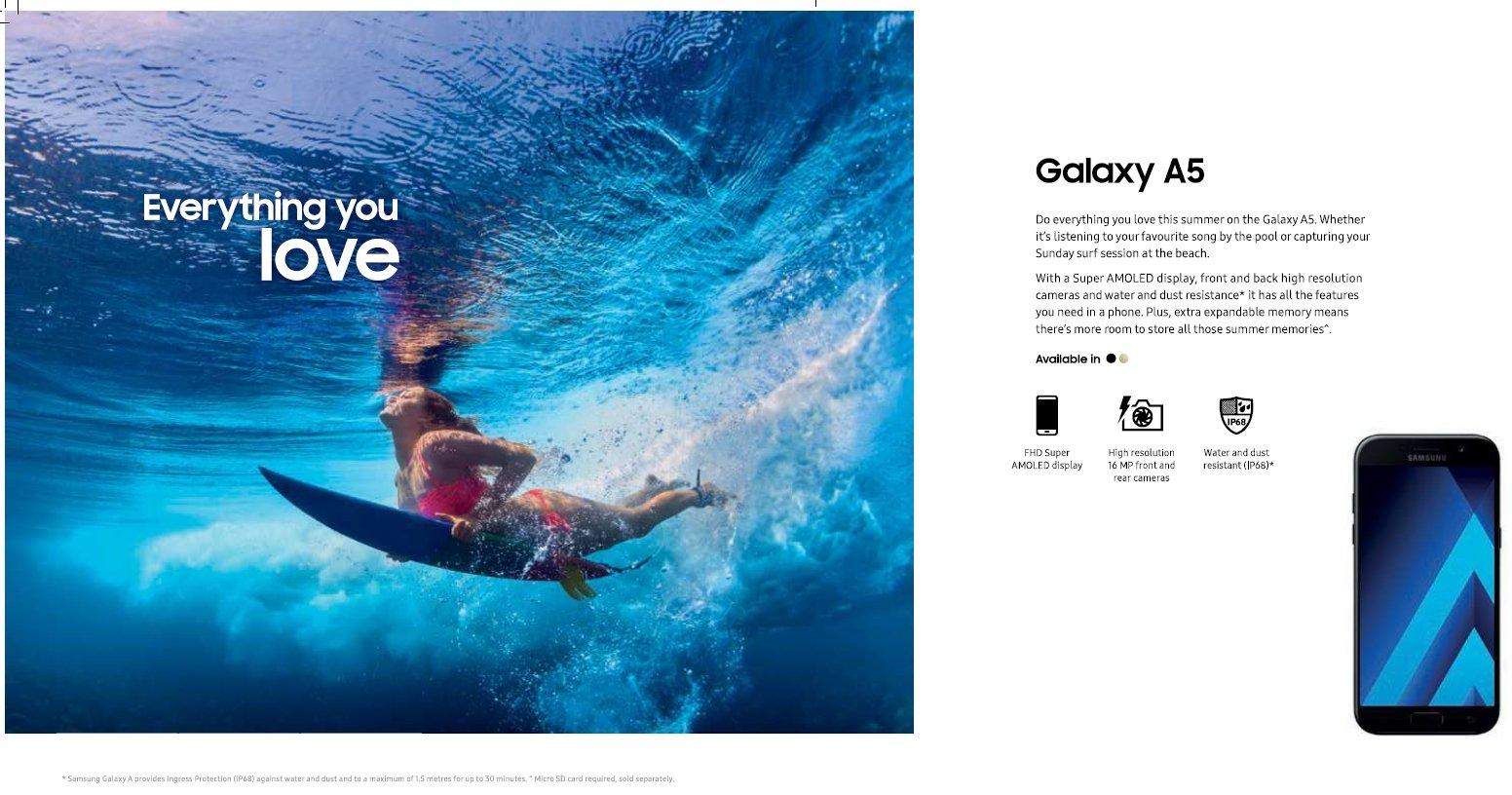 publicidade da samsung no mar