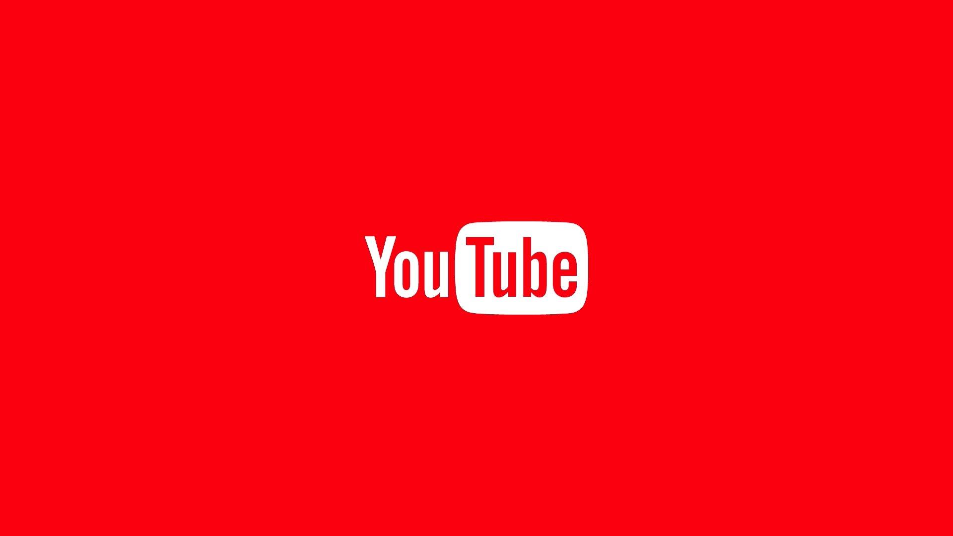 Youtube logo em fundo vermelho