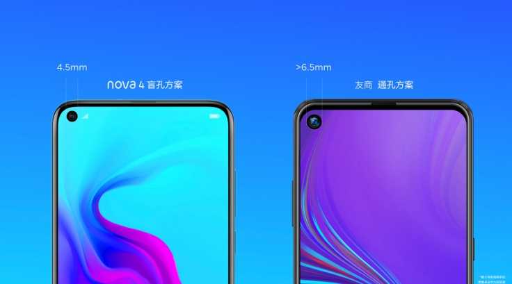 câmara frontal de dispositivos da Huawei