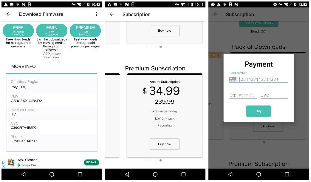 pagamento para download falsa app