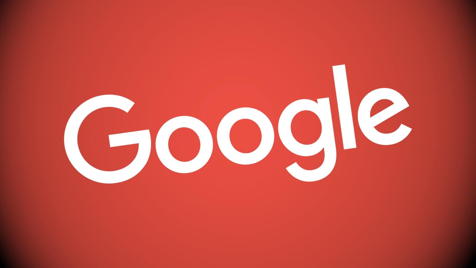 Google logo sobre fundo vermelho