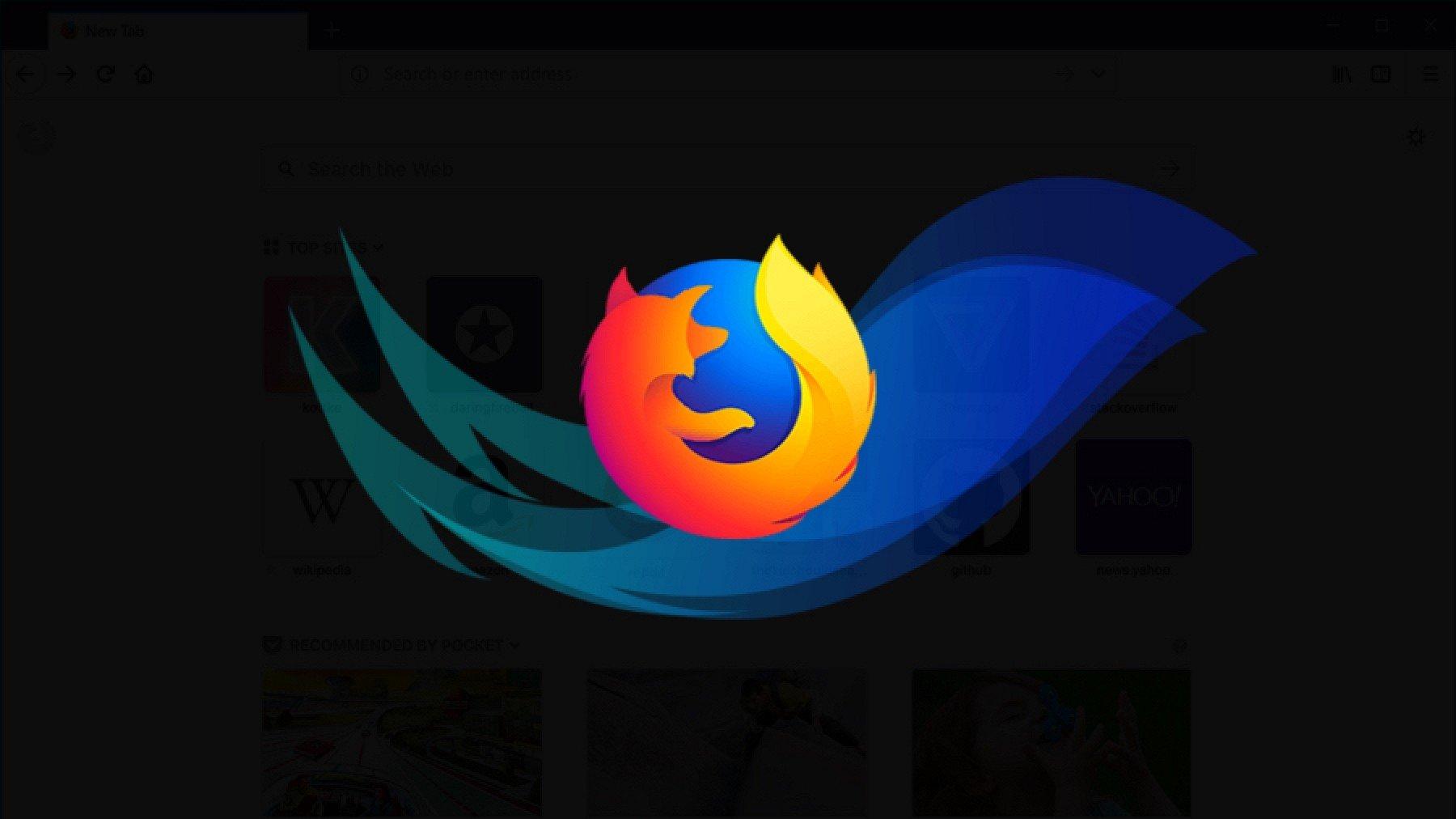 Firefox logo janela