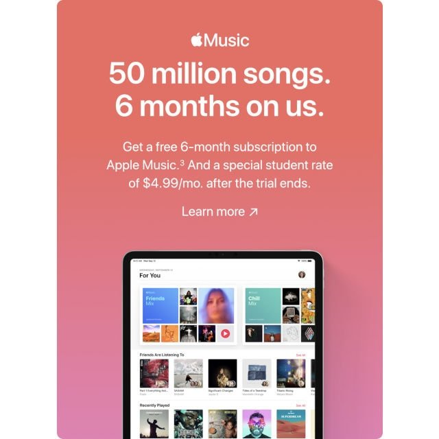 imagem da promoção da apple