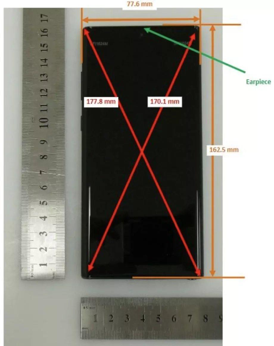 imagens do dispositivo note 10 samsung