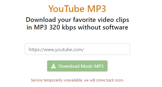 mensagem de erro no download de vídeos