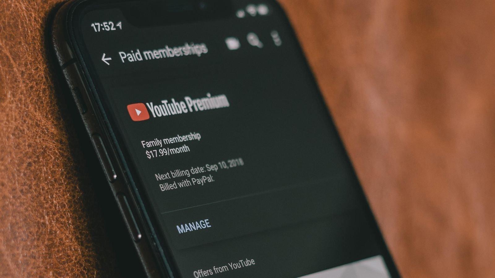 youtube premium smartphone