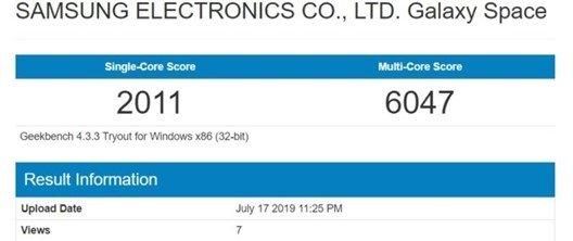 teste ao dispositivo da Samsung