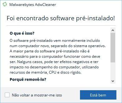 software pré-instalado