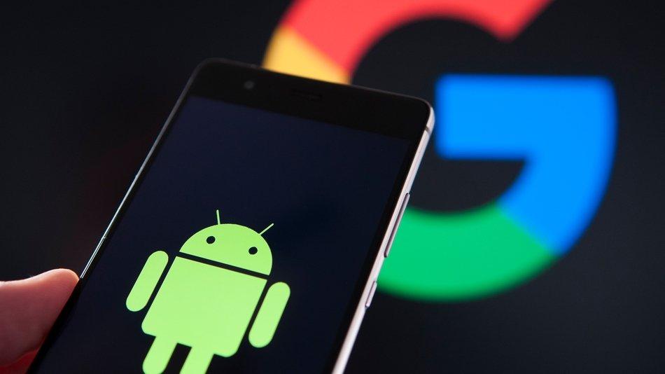 Google e Android em smartphone