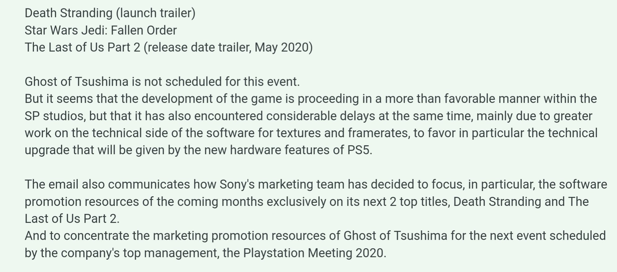 imagem do email da sony