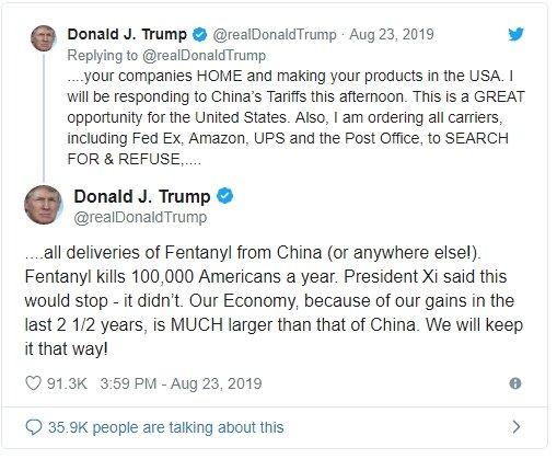 donald trump empresas china