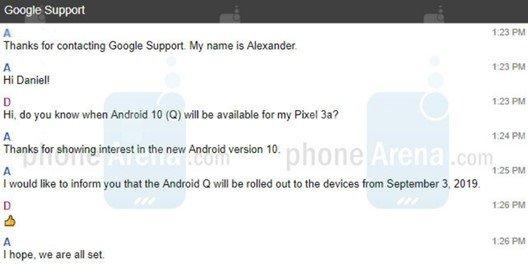 android 10 lançamento