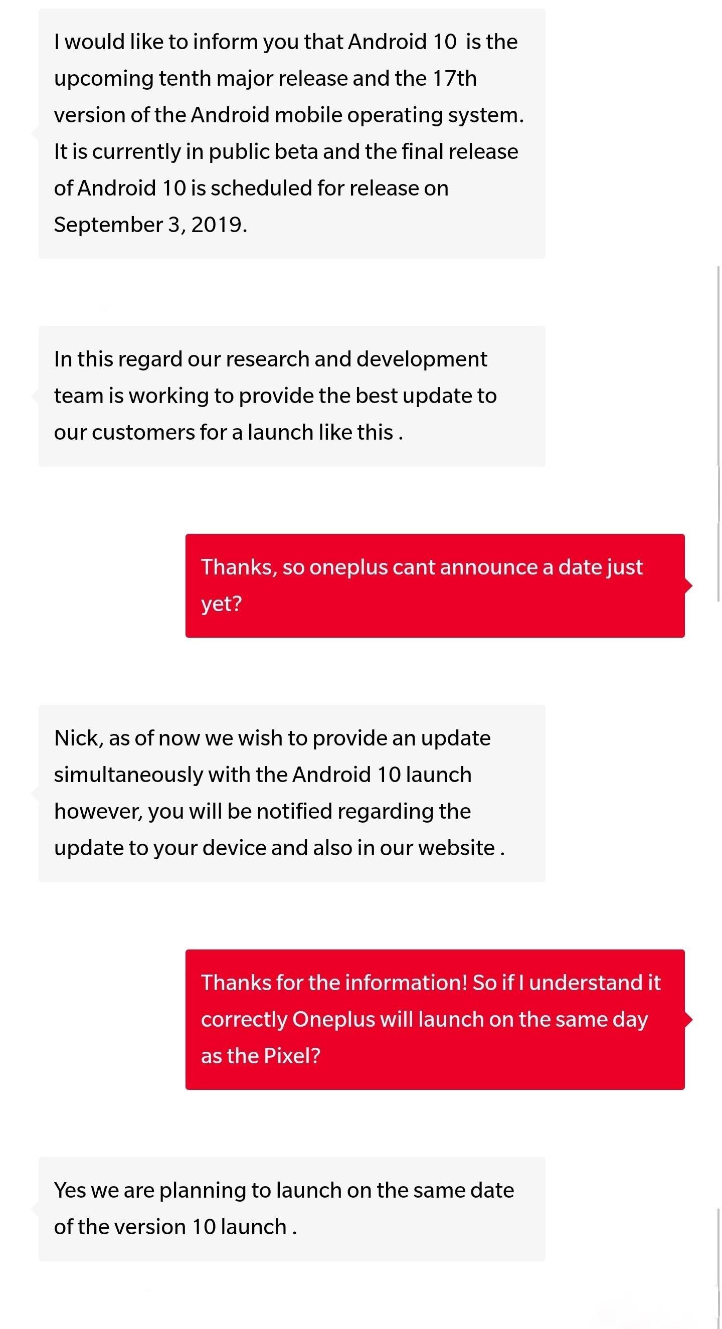 conversa reddit OnePlus