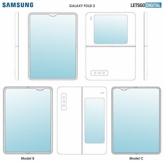 imagem patente samsung galaxy fold