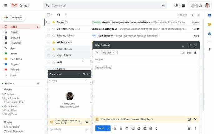 gmail fora escritorio alerta
