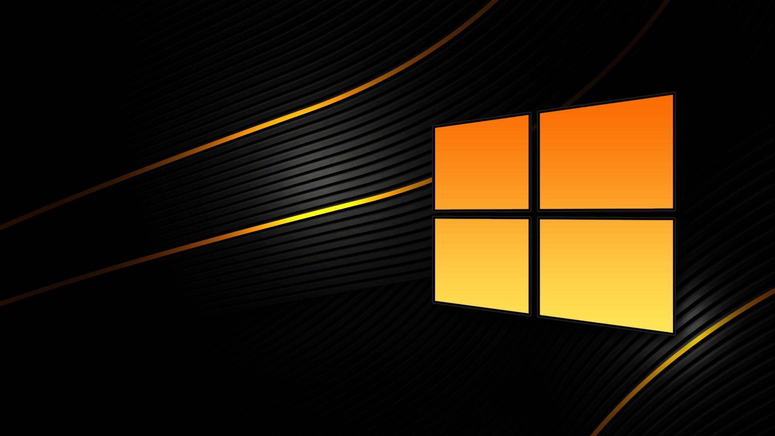 windows logo laranja
