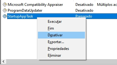 desativar tarefa windows